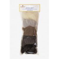 Pack de laine cardée pour motif Chien et Chat