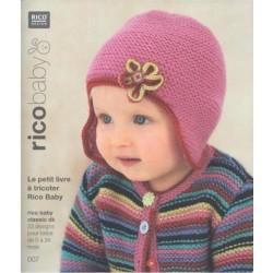 livret  à tricoter N° 7 en laine Rico Baby