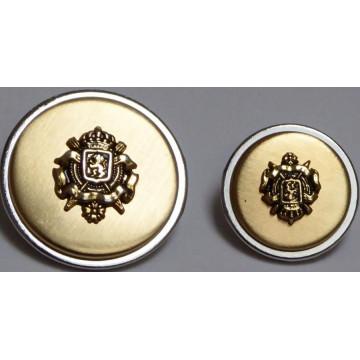 Bouton Ecusson métal or et argent
