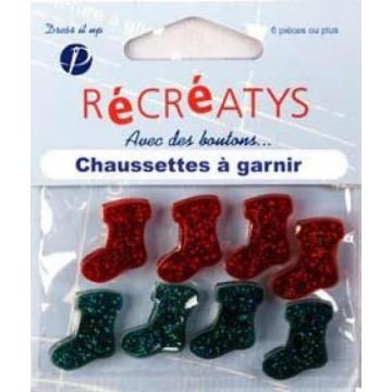 Bouton Récréatys  chaussettes à garnir