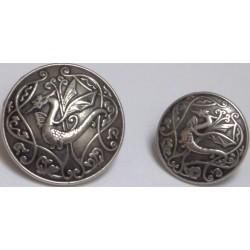 Bouton métal dragon