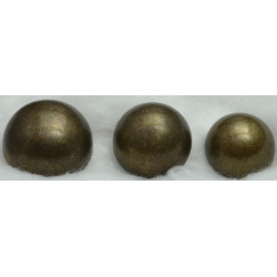 Bouton militaire bronze uni
