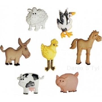 Boutons  récréatys Les animaux de la ferme