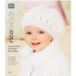 Livret  à tricoter N° 8 en laine Rico Baby so soft